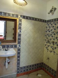 Room #2 at Casitas Kinsol Guest House - Hand made Mexican tiles in the shower