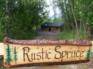 Alaska Rustic Spruce Cabin on 30 Mile Lake