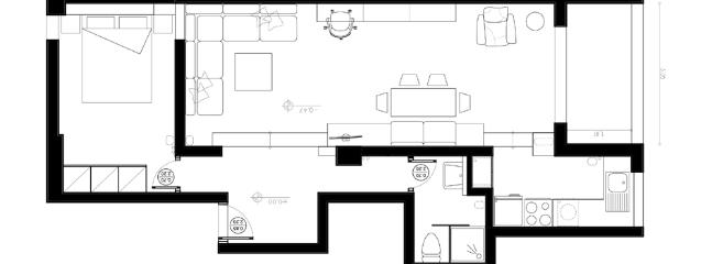 Floor plan of the apartment