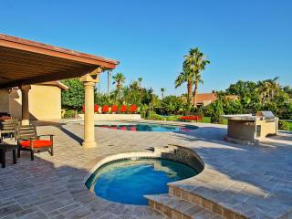 Another shot of the backyard patio with the 8 person hot tub! Perfect for night relaxation!