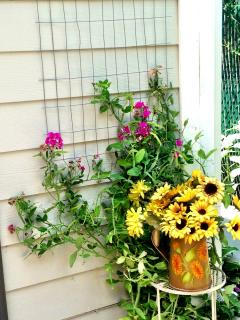 Sweet Peas and Sunflowers.