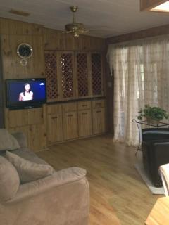 Family room with flat screen