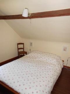 double bed in room 2, first floor