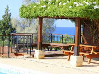 Impressive villa with pool and sea view, Pafos