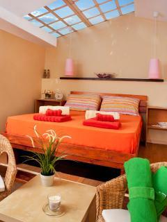nice romantic skylight bedroom