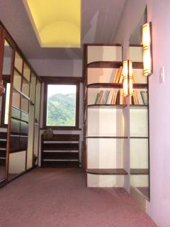 Enormous walk in closet with mountain view