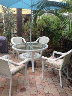 your patio area