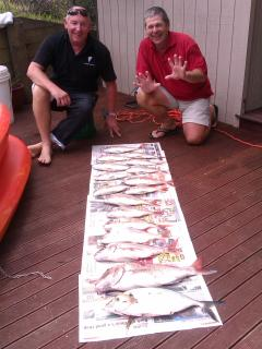 Great day fishing - hubby & friend