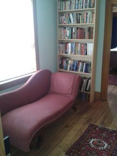 Enjoy a book in the sun on the chaise lounge