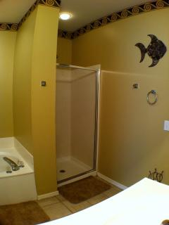 Master Bath with Jacuzzi tub and stand up shower