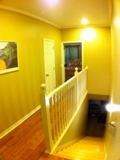 Upstairs Hall showing privacy of Master Suite