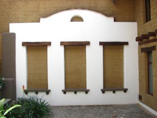 Decorative Spanish-style portal in the courtyard