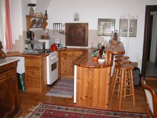large kitchen cum dining room