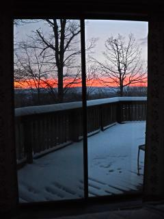 Pre-dawn view from Master Bedroom.