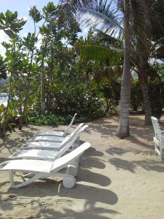 SEATING AT PRIVATE BEACH AREA
