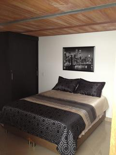 Bedroom with queen size bed.  Bed is brand new and very comfortable.
