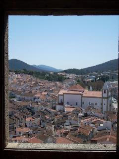 The medieval town of Castelo de Vide seen from the main tower of the castle