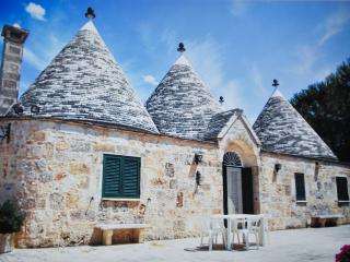 Beautiful complex of Trulli in Valle d'Itria, Martina Franca