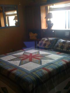 Very sunny master bedroom
