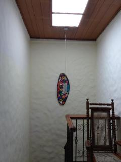 stairs and skylight upstairs