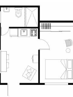 Floor plan (320sq feet / 30sq meters)