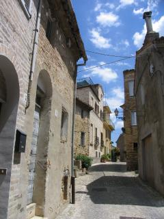 A typical street of Mogliano historical centre