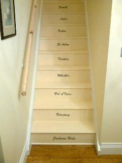 Staircase to the guest room