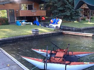 Paddle boat is included in rental and inflatable type kayak