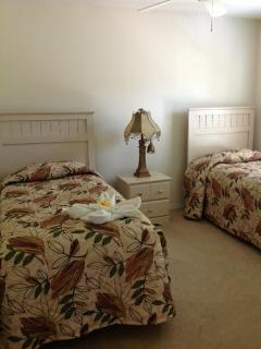 One of the rooms with the twin beds