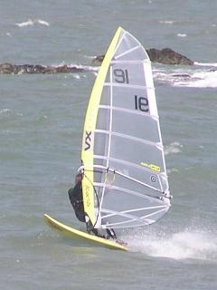 Windsurfing at Sandy Beach
