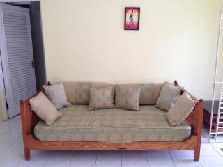 Comfortable daybed with removable covers for bedtime