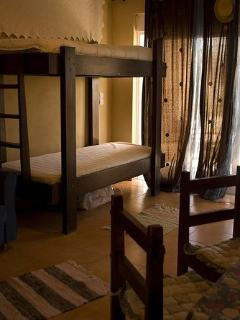 sleeping area of the sitting room