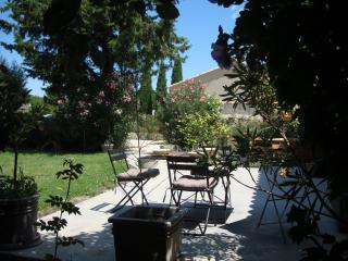 Avignon countryside : Independent apt w. private garden in vineyard village, Domazan