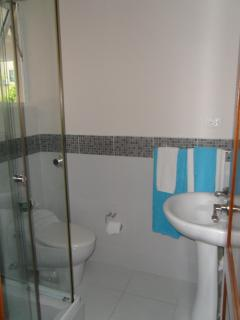 Guest Bathroom with glass shower cubicle