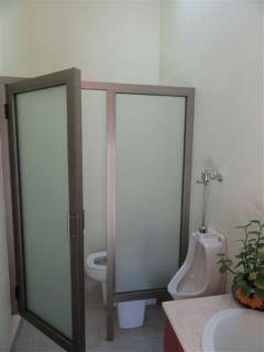 half bathroom at the terrace entrance.