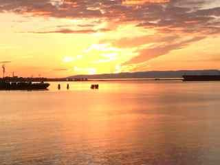 Gorgeous sunsets in Port Angeles harbour