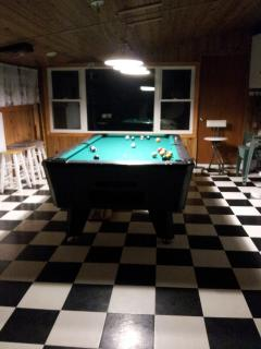 Cottage Pool Table in Entertainment Room