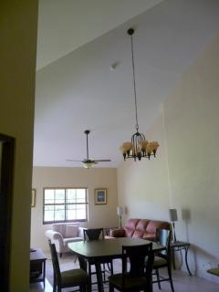 dining area (note extra high cathedral style ceiling)