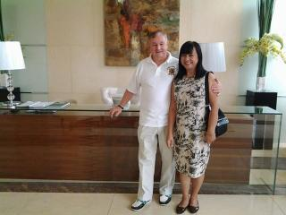 My wife and I in the Lobby of Sunshine 100 City Plaza