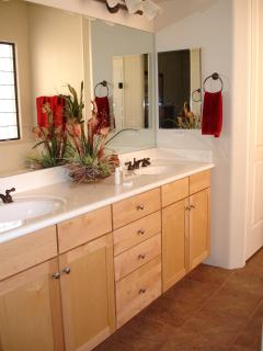 Large Master Bathroom- with Double Sinks