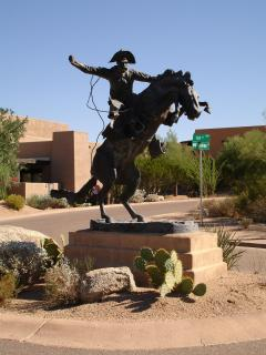 Cowboy Statue- at Entrance of the Community