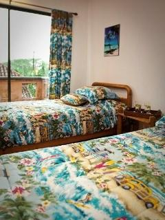 Top floor Twin Beds 'Surf' Theme