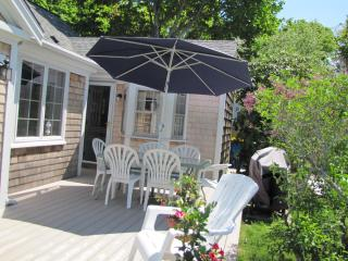 Spacious, sunny new deck