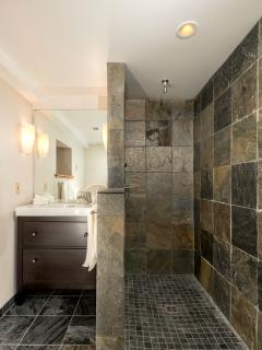Slate shower/bath