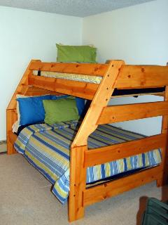 Twin over full bunk bed in second bedroom