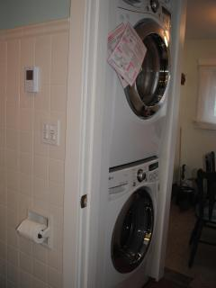 Quiet and efficient full-size washer and dryer...