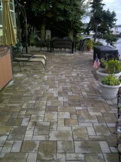 Beautiful paver patio perfect for entertaining