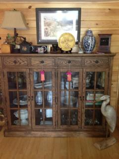 Welcoming china cabinet in living room