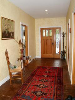 Grand Foyer with heated floor and plush rug