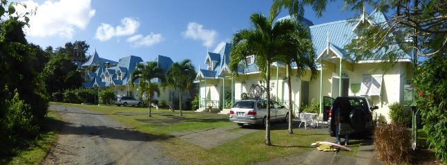 Wide angled photo of Villa Nirvana